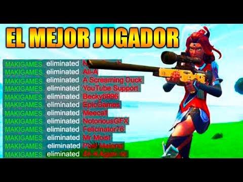 EL NUEVO MEJOR JUGADOR DE FORTNITE !! INCREIBLE !! FORTNITE BATTLE ROYALE Makigames