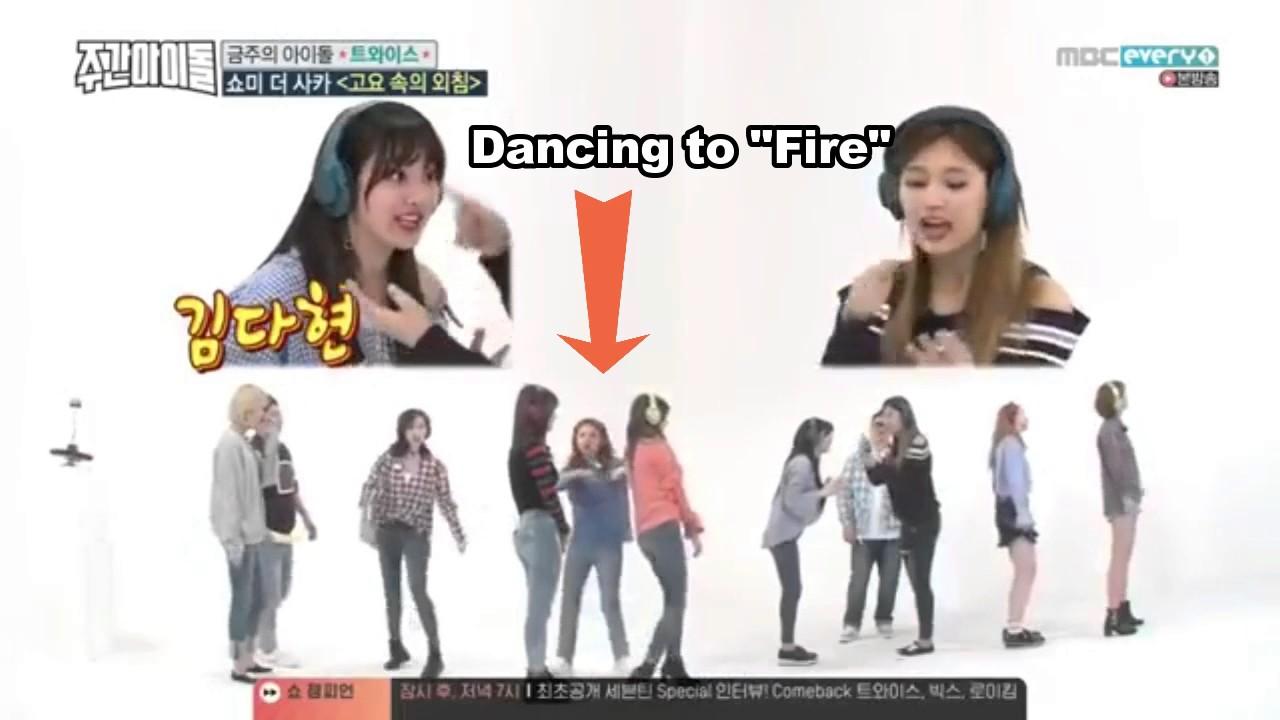 TWICE Singing/ Dancing To BTS On Weekly Idol Ep  303 (BANGTWICE)