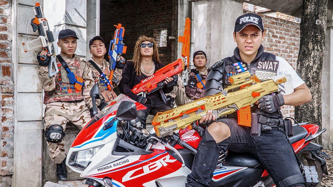 LTT Game Nerf War : Police Guard Warriors SEAL X Nerf Guns Fight Crime Rocket Bandits Nerf Mod