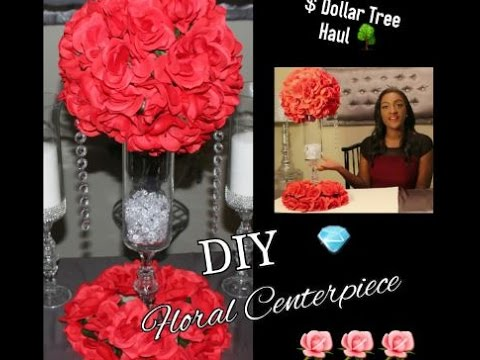 Diy Dollar Tree Red Floral Arrangement Centerpiece Kissing Ball