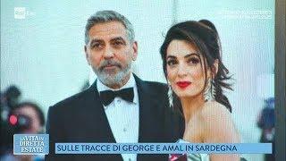 George Clooney si è trasferito in Sardegna per girare un film - La vita in diretta estate 18/06/2018