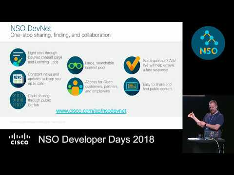 NSO Dev Days: Carl Moberg on NSO+Ansible, NSO Usability, NSO+ONAP and NSO Roadmap