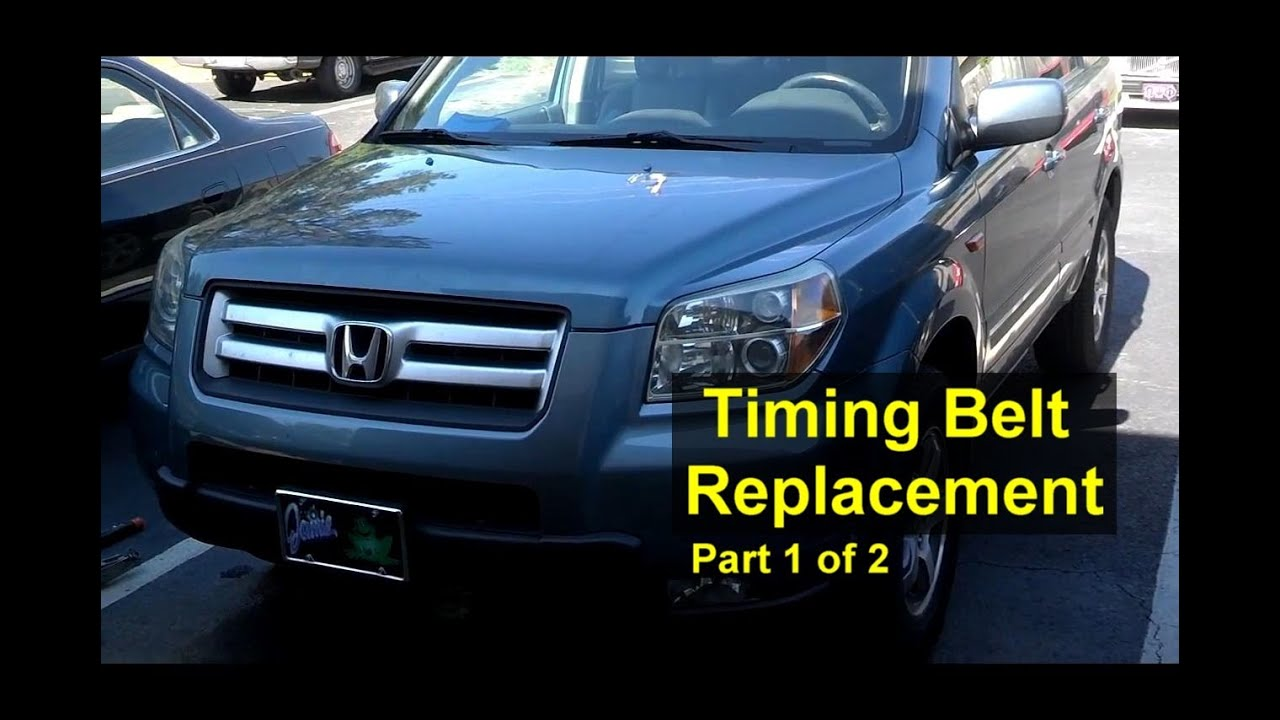 Honda Pilot timing belt and water pump replacement Part 1 of 2