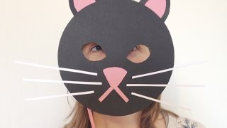 How To Make a Fun Card Cat Mask - DIY Crafts Tutorial - Guidecentral