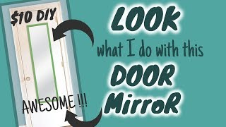 LOOK what I do with this $5 DOOR MIRROR | $10 DIY