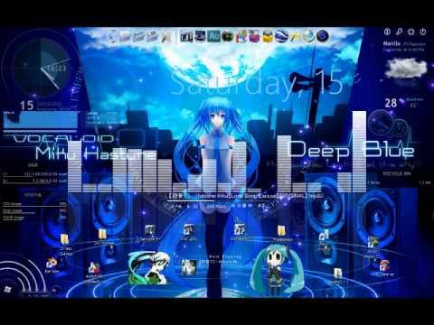 rainmeter anime skin download