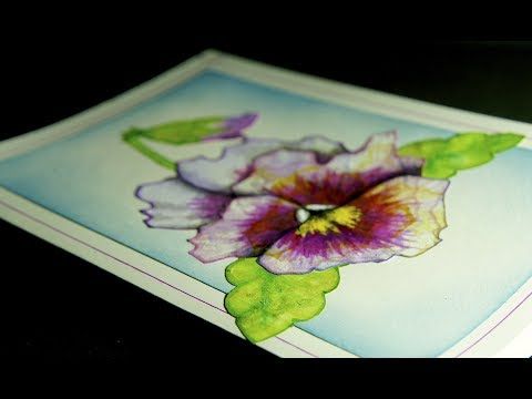 Pulled String Painting - Making Circular Patterns and Producing Pretty Cards From Them.