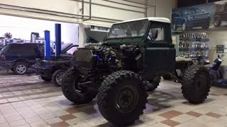 Mog Axle Landrover Test Drive on 44 inch Tires