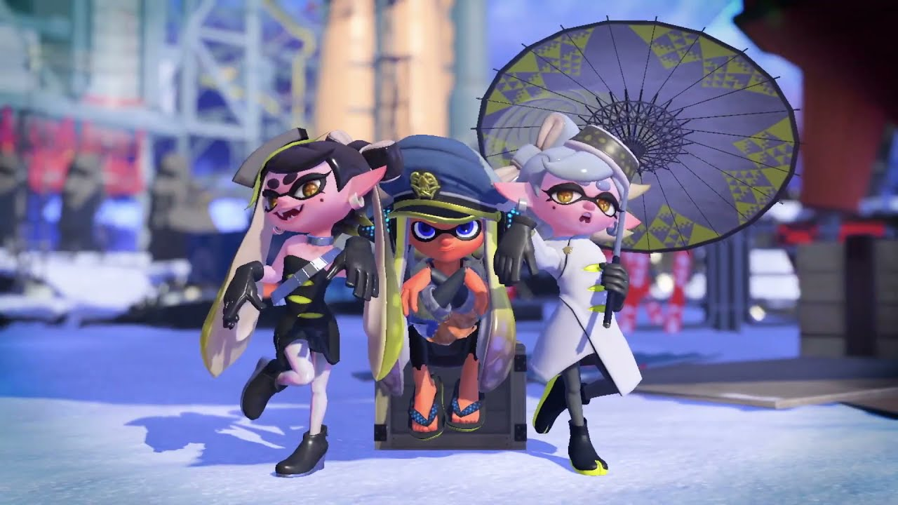 Splatoon 3 trailer but it's only Callie, Marie, and Captain Agent 3