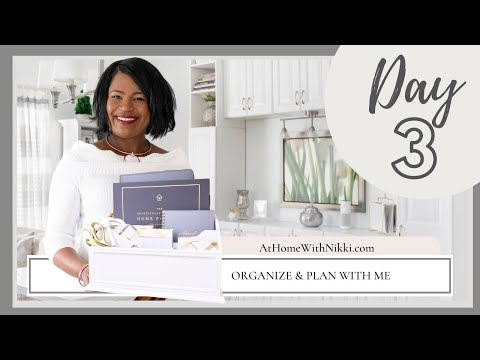 Organize & Plan With Me | Home Series 3 of 8 from YouTube · Duration:  17 minutes 57 seconds