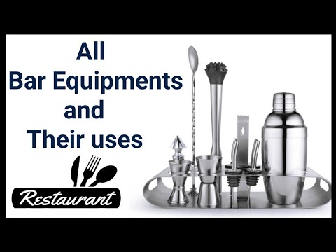 Name Of Bar Equipment And Tools And Their Uses | Bar/Hotel/F&b Service