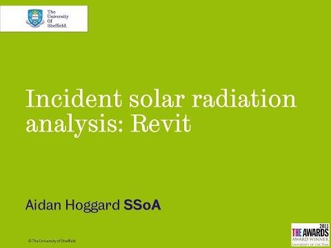 Incident Solar Radiation Analysis Revit 01