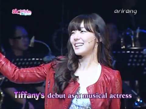111122 Tiffany SNSD - Press Conference @ Arirang Showbiz Korea 'FAME' the Musical Showcase