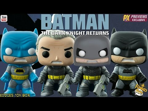 Batman The Dark Knight Returns: Batman and Armored Batman Funko Pop! Review!