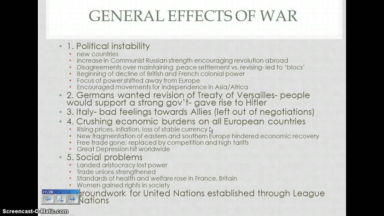 General Effects of WWI - YouTube