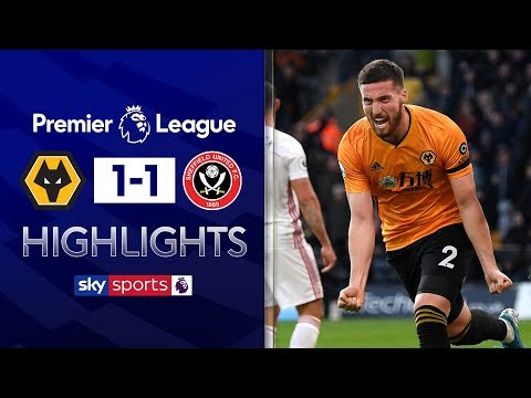 Doherty cancels out Mousset's opener | Wolves 1-1 Sheffield United | Premier League Highlights