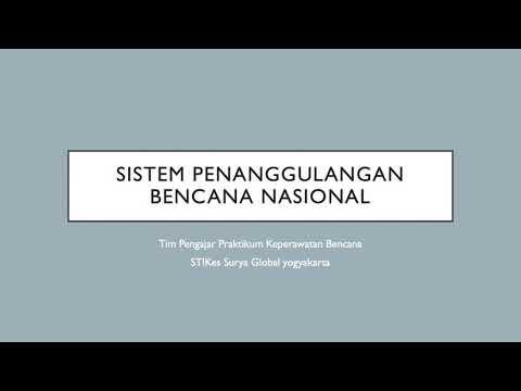Keperawatan Bencana: Sistem Penanggulangan Bencana Nasional