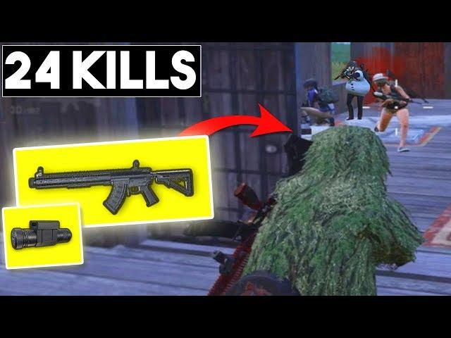 NEW WEAPON MK47 + LASER SIGHT IS IT GOOD? | 24 KILLS Season 5 | PUBG Mobile