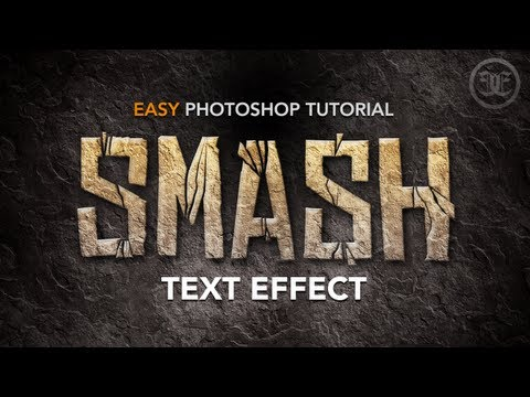 Easy Photoshop Tutorial: Smashed Text Effect W/ Rock Texture