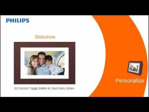 Philips Digital Photoframe Tutorial Youtube