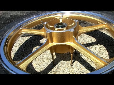 How to Paint Motorcycle Wheels & Polish Rims