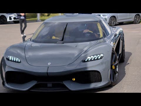 [8k] Unbeleivable  Koenigsegg Gemera driving on electricity and loading up