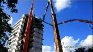 WORLDS LARGEST CATERPILLAR DEMO EXCAVATOR CUTTING STEEL BEAM Hitachi ZX 870