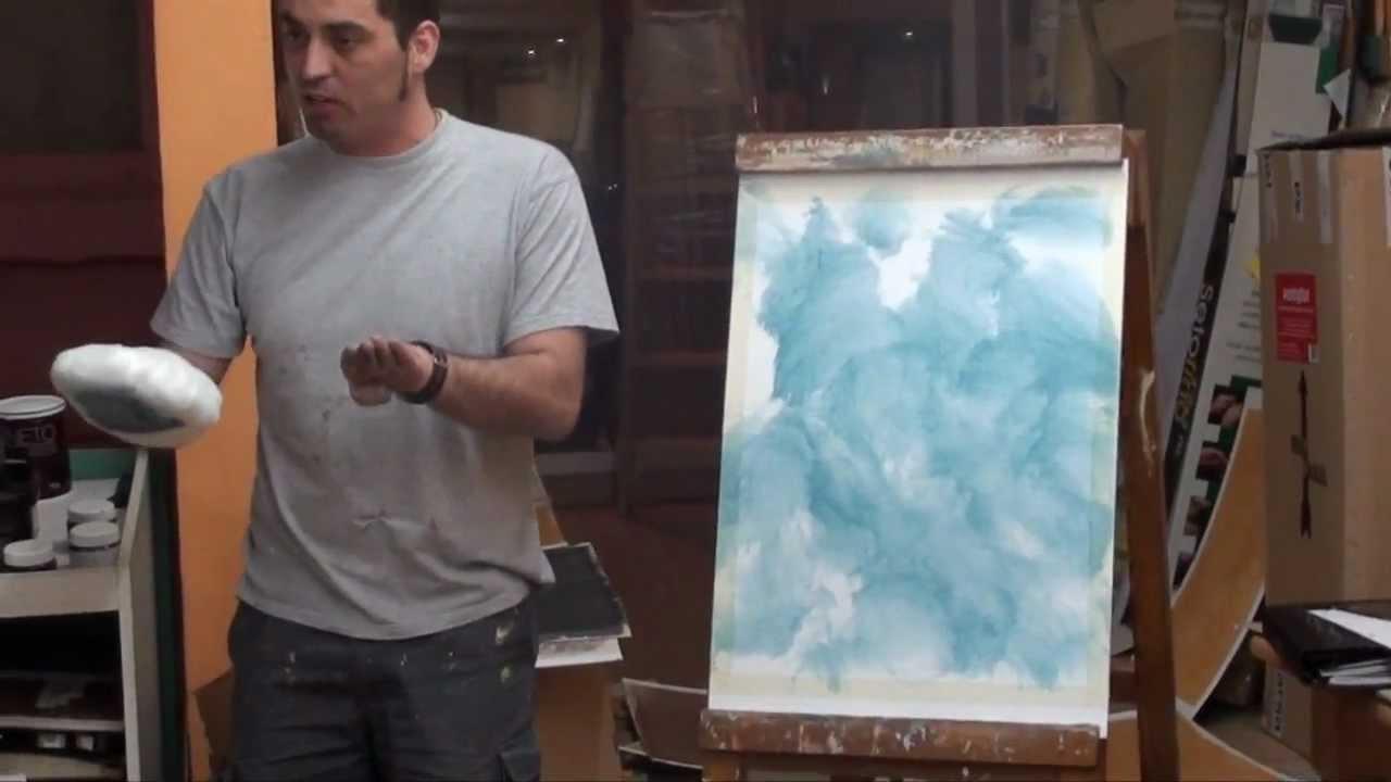 Demostraci n de c mo se aplica la veladura en pinturas - Cuadros de leroy merlin ...
