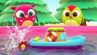 Learn colors with cartoons. Hop Hop the Owl & the toy Boat. Educational cartoons for babies.