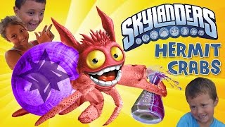 We Found Skylanders Hermit Crabs!! + Swap Force Word Search Contest (w/ indoor surfing clip)