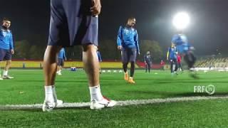 Antrenament pe sintetic înaintea meciului cu Lituania