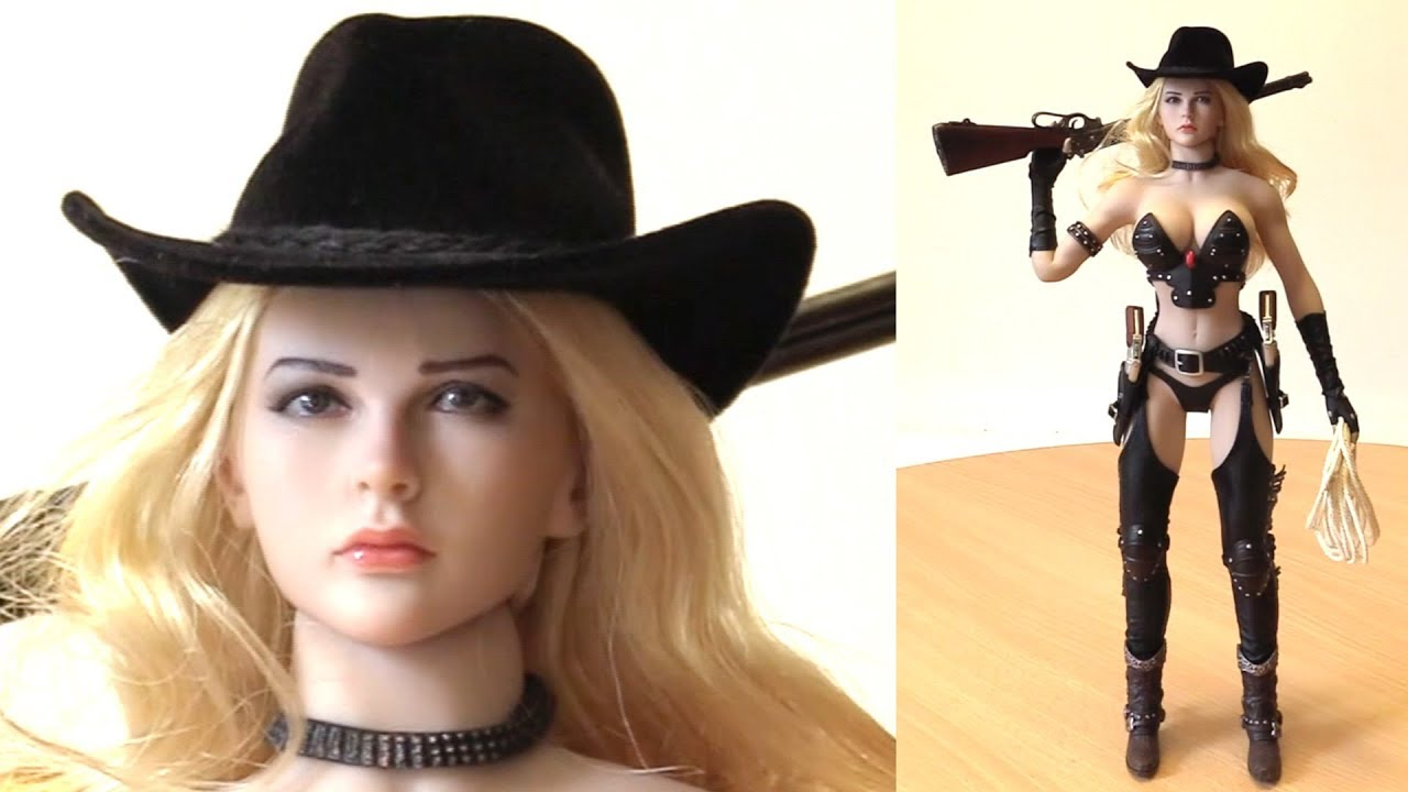 Cowgirl 1//6 Scale Phicen Action Figures Head w// Blonde Rooted Hair
