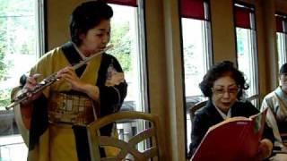 2011年初釜 生徒さんによるフルート演奏 塚本茶華道教室.