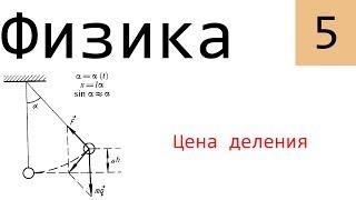 Физика. 5. Цена деления