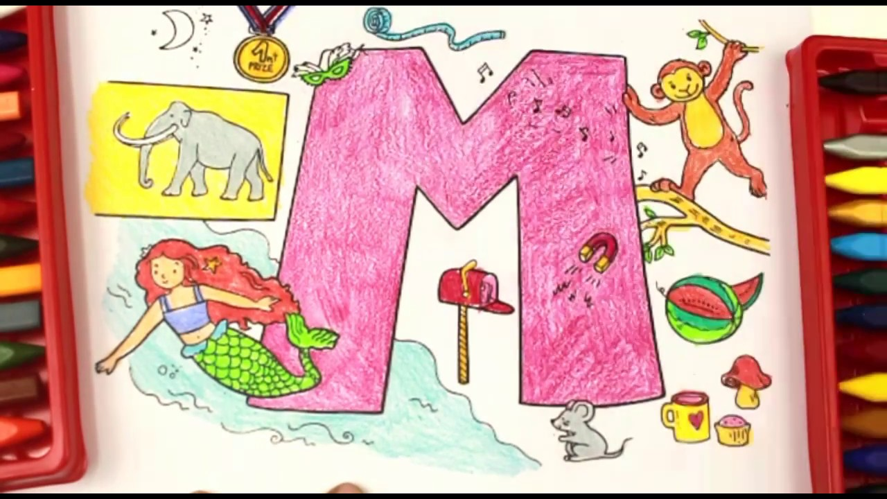 Coloring and Learning Letter M |Super Simple ABCs|Alphabet for Kids ...
