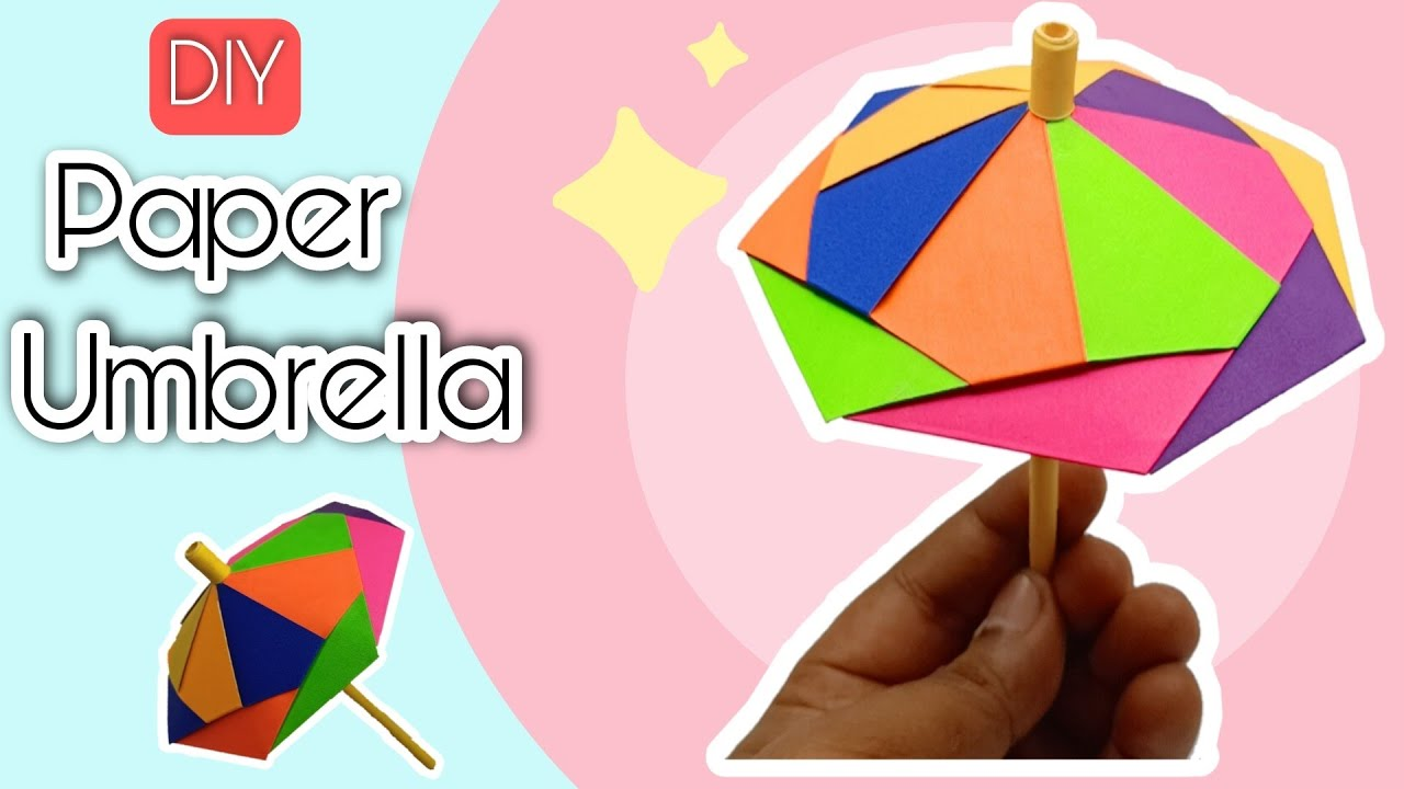 How To Make a Paper Umbrella | Easy Paper Crafts for Kids