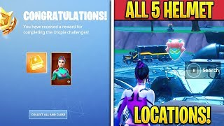 "Fortnite All ""Singularity"" Skin Helmets Locations! (Singularity FREE Styles!)"