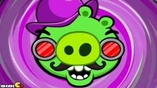 Angry Birds Space: Brass Hogs Level M9-3 Mirror World Walkthrough 3 Star