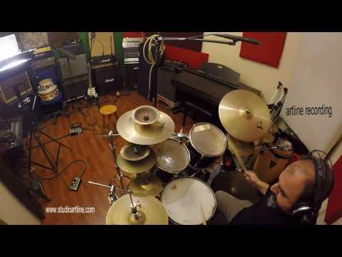ARTLINE recording studio  Jazz Drums overhead sample rec Royer SF12-hakan nart 2017