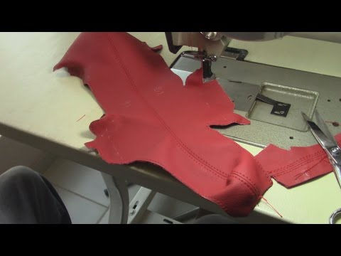Sewing the Armrest Cover in Leather PART III - Auto Upholstery