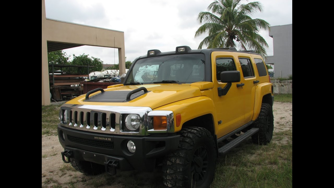 Hummer H3 2006 Yellow - My Mint Car - YouTube
