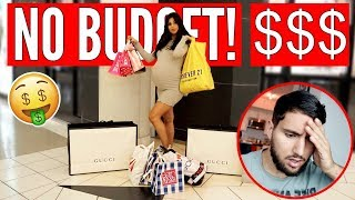Pregnant Wife Does The NO BUDGET Shopping Challenge!!!