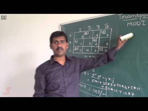 Operations Research(vol-3)-MODI or UV method by Srinivasa rao