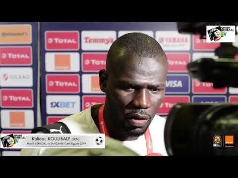 CAN Egypte 2019 - Réaction Kalidou KOULIBALY après Match SENEGAL vs TANZANIE