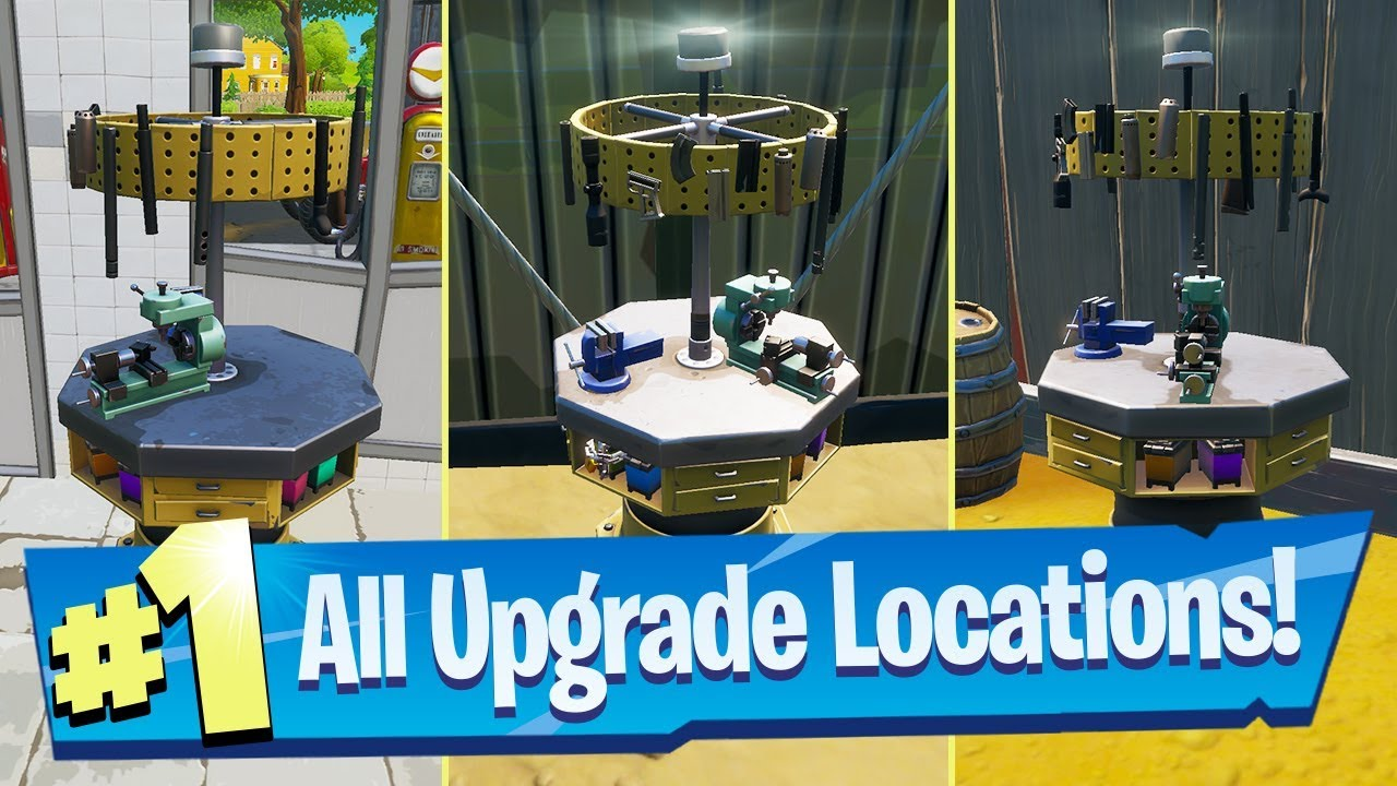 Upgrade An Item At A Weapon Upgrade Bench All Bench Locations Fortnite Battle Royale