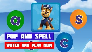 PAW Patrol: Pop and Spell · Game · Gameplay