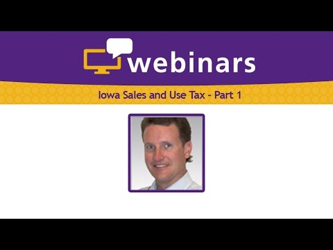 2016 Iowa Sales and Use Tax: Part 1
