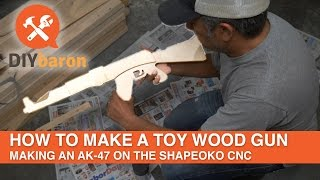 Wie man eine AK-47 Spielzeug-Gewehr aus Sperrholz