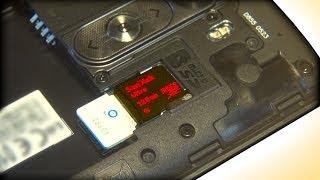 LG G3 Micro Sim / SD Card Install 128GB?
