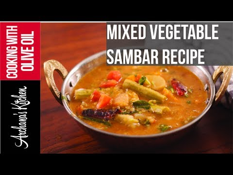 Mixed Vegetable Sambar - South Indian Recipes by Archanas Kitchen